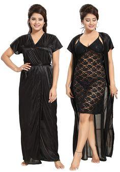 Noty 2 Pc Women's Hot Night Robe and Night Slip Sheer Lingerie, Bridal Lingerie, Lingerie Set, Fashion Lingerie, Women's Fashion, Ladies Fashion, Girls Night Dress, Night Dress For Women, Nice Dresses