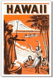 Vintage Hawaiian Travel Advertisement