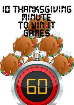 Thanksgiving Minute to Win It Games – Children's Ministry Deals
