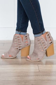 I like the height of these and the details that set them apart from other booties