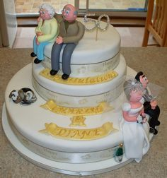 golden anniversary cake by Paramount Cakes, via Flickr  Or maybe I should do this for mom and dad?