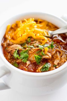 All your favorite flavors of summer! Delicious juicy pulled pork and spicy chipotle flavored broth! Easy slow cooker meal!