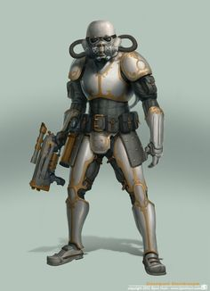 The decked out Steampunk Star Wars Stormtrooper has landed and is ready to cause chaos in artist Bjorn Hurri's killer fan art collection.