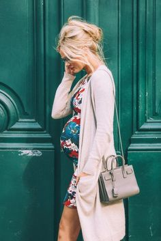 Dress: barefoot blonde blogger cardigan shoes bag make-up jeans hat sunglasses shirt maternity