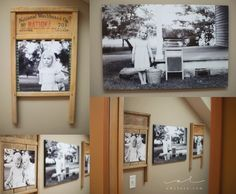 Laundry room photo display idea. Washboards as frames! by Amy Lucy Photography, www.amylucy.com