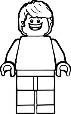 lego man clip art black and white  lego coloring pages