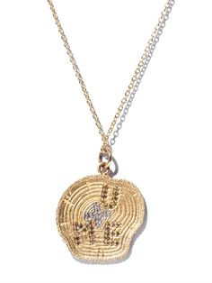 Alison Lou White diamond & yellow gold necklace on shopstyle.com