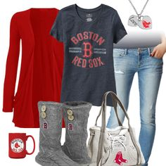 Boston Red Sox Casual Tshirt Outfit home pride Red Sox Baseball, Baseball Season, Baseball Outfits, Twins Baseball, Rangers Baseball, Bama Football, Baseball Games, Cleveland Indians Baseball, Cleveland Rocks