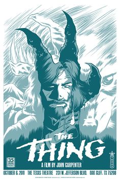 The Thing. Poster re-make for my favourite horror film.