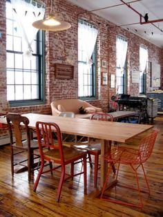 Loft Mesa Cadeiras Diferentes Laranja Vermelho - Pinterest