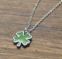 Green 4 Leaf Clover Pendant by beadingshaz on Etsy, £5.00