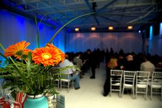 lovely seated ceremony @Airship37 Event Venue