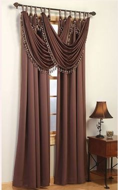 Modern & Contemporary Bay Window Curtains The most impressive window in the house deserves fabulous curtains and blinds. See what options are available for bay windows below Bay Window Curtains, Home Curtains, Bedroom Windows, Bay Windows, Rideaux Du Bow Window, Window Coverings, Window Treatments, Rideaux Design, Beautiful Curtains