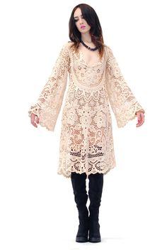 Isabella Antique Crochet Dress