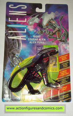 aliens vs predator kenner NIGHT COUGAR ALIEN UK exclusive 1994 moc mip mib action figures hasbro toys