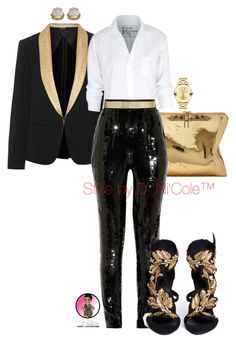 A fashion look from December 2015 featuring Frank & Eileen blouses, rag & bone blazers and Jason Wu pants. Browse and shop related looks. Night Outfits, Cool Outfits, Fashion Outfits, Womens Fashion, Fashion Trends, Mode Style, Polyvore Fashion, Polyvore Outfits, Swagg
