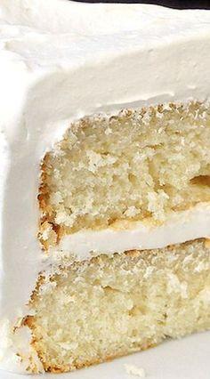 ***Made this, awesome moist cake!White Velvet Cake - Also red, orange, and lemon velvet recipes! White Velvet Cakes, White Cakes, Red Velvet, Sweet Recipes, Cake Recipes, Dessert Recipes, Orange Recipes, Frosting Recipes, Buttercream Frosting