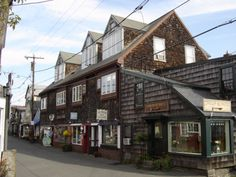 Shops at Bearskin Neck, Rockport, MA. Early morning Dad and kids would go for breakfast 6am