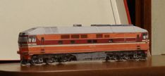 This train paper model is a TEP70, a main line single unit diesel passenger locomotive, the paper model is created by Alexandrlion, the scale is in 1:87 (H0).