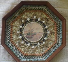 Made my Helen Beth Thibault 14inch sailors valentine in a walnut box made of assorted shells