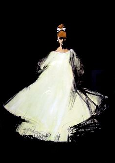 Rene Gruau illustration for Diorling, Christian Dior's new perfume launched in 1963 Fashion Art Illustration, Illustrators, Rene, Sketches, Inspiration, Fashion Design, Illustration, Fashion Illustration Vintage, Art