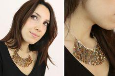 DIY Precioso collar de cubitos de Miyuki
