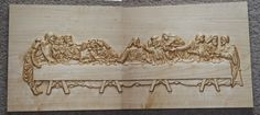 "Last Supper 11"" x 24"" x 1"" Hard Maple Finished with Linseed Oil — at Djnphotowoodworking."