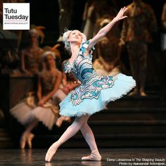 Tutu Tuesday: This brilliant blue tutu is worn by Princess Florine during the Bluebird pas de deux in which the bird teaches the princess to fly. With feathered embellishments and ribbon tassels on her shoulder, Princess Florine looks almost airborne.