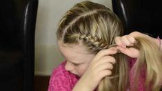 How to French Braid Your Own Hair Into Pigtails. My granddaughters own page he… Haircut Styles For Women, Short Haircut Styles, Best Short Haircuts, Long Hair Styles, Pigtail Hairstyles, Pigtail Braids, Braided Hairstyles, Hairstyles Videos, Box Braids