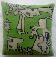 New Pillow made from a vintage Picasso Needlepoint