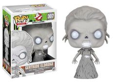 Product Info This Ghostbusters Pop! Vinyl Figure features one of the apparitions, Gertrude Eldridge, from the rebooted 2016 film Ghostbusters. This figure measures about 3 3/4 inches tall and comes pa