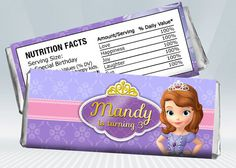 Princess Sofia Hershey Wrappers by DigiPartyShoppe on Etsy, $4.00