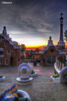 Park Güell. Barcelona, Spain ( Gaudi ) UNESCO,World Heritage Site, 1984