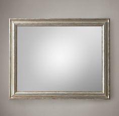 Baroque Aged Silver-Leaf Mirror