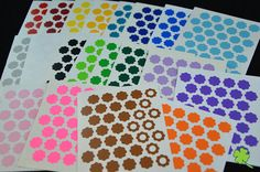 280pcs 1/2 reinforcement ring label tags hole by 4LeavesDesigns, $3.45