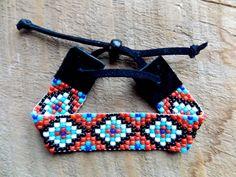 Aztec bead loom native american bracelet  by TabeasTreasures, $24.00
