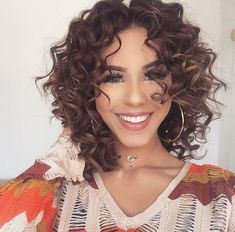 Curly Hair Styles, Curly Hair With Bangs, Haircuts For Curly Hair, Curly Hair Cuts, Medium Hair Cuts, Long Curly Hair, Hairstyles With Bangs, Short Hair Cuts, Medium Hair Styles