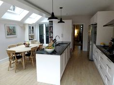 keeping a similar layout to our kitchen but moving the sink to an island. Keeps both doors too