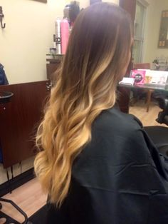 Brown to blonde ombre by Denelle Collins of C'est La Vie Salon, MY SALON Suite of Palm Harbor, FL. To schedule and appointment with Denelle, call (727) 776-6956.