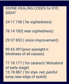 Healing Codes, Eye Sight Improvement, Number Meanings, Switch Words, Reiki Symbols, Special Words, Sound Healing, Brain Waves, Medical Help