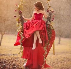 the imagination is the door to all... #Dress #red #15years #foto #photography #photo