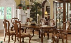 Antique Replica Dining Room Sets Made From Solid Mahogany By Hand Craftsmen