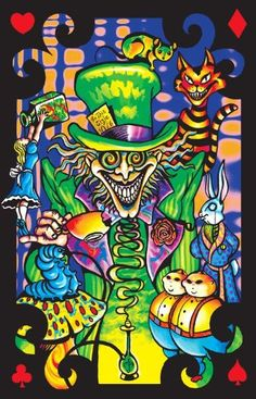 (23x34) Alice in Wonderland Mad Hatter Collage Flocked Blacklight Poster Art Print $2.28 #bestseller