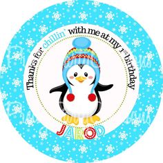 BOY PENGUIN party favour tags   U PRINT 2 by PrettyPartyCreations