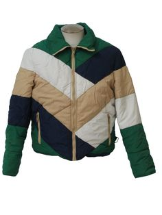 80s -White  stag down ski jacket also big in the 70s