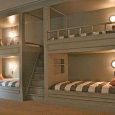 Cool built in bunk beds