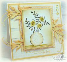 Gina K Monochromatic card.
