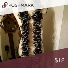 Black & Silver Crocheted Scarf Brand new Accessories Scarves & Wraps