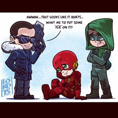 Captain Cold, The Flash & Green Arrow Supergirl Dc, Supergirl And Flash, Lord Mesa Art, Flash Funny, Leonard Snart, Cw Dc, Bff, Dc Tv Shows, Snowbarry