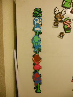 Super Mario Bros 2 Bead sprite magnet Retro Gaming by SolidSchmee